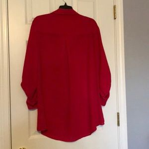 New York & Company Tops - Sheer top in bright pink